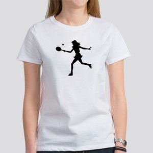 Girls Tennis Silhouette Women's T-Shirt
